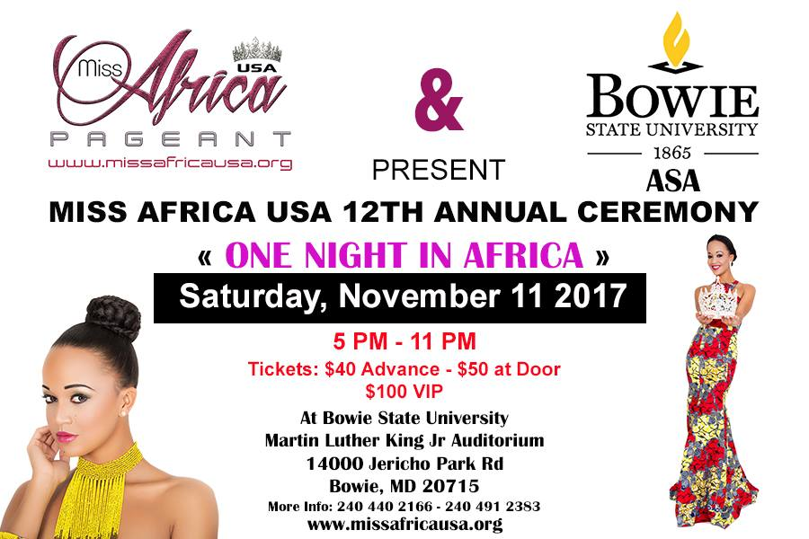 Bowie State University Opens its Doors To Miss Africa USA In Collaboration With The African Student's Association
