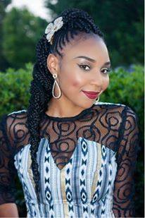 Miss Congo Maeva Ikias, Miss Africa USA Finalist 2015 – Promoting Beautiful African Hairstyle