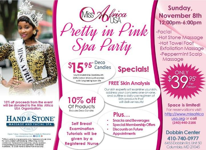 Miss Africa USA To Host Pink Spa Party For Women And Girls To Raise Awareness About Breast Cancer