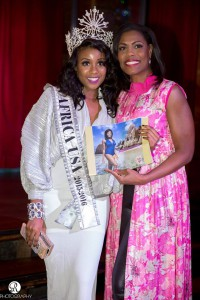 Miss Africa Swim Calendar Launch in New York City Hosted by Celebrity Omarosa Manigault