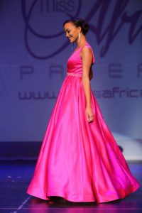 Pageant Finalists Rock In Fabulous Pink Themed Evening Gowns At 2016 Miss Africa USA