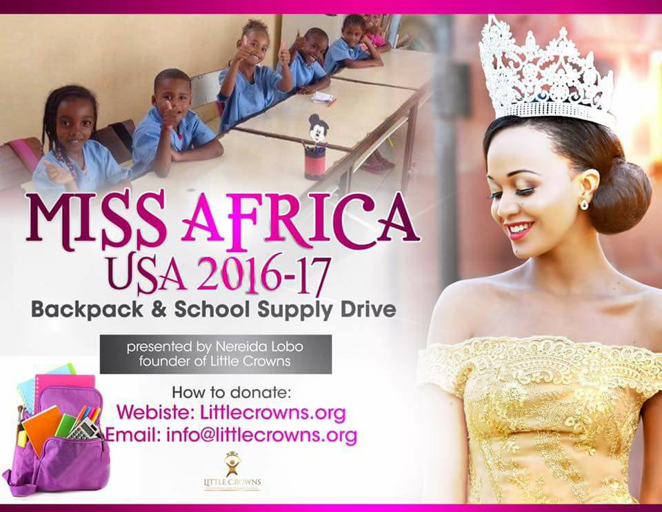 Queen Nereida Lobo Launches Back Pack Drive For Under Privileged School Children in 4 African Countries. Support The Queen
