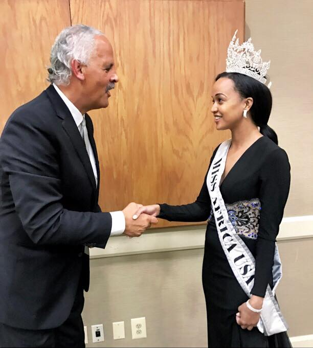 The Queen Meets Oprah's Partner Stedman Graham in Virginia