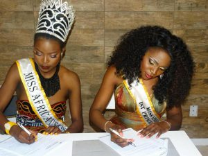 Miss Africa USA and First Princess Sign Up For Office Space Sponsored By I/0 Spaces