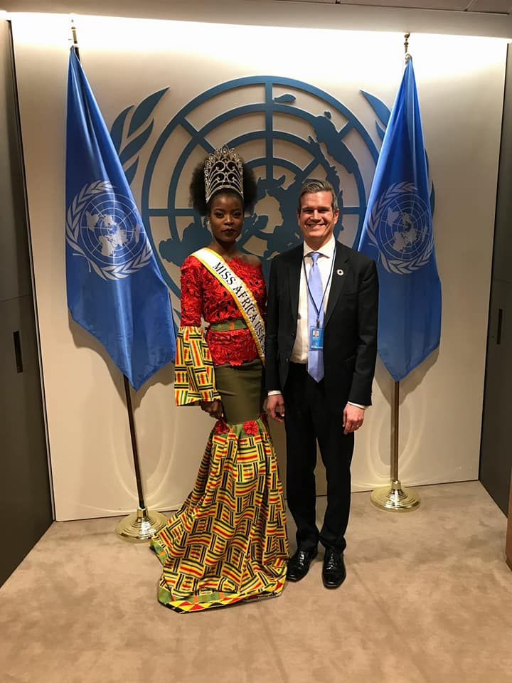 Miss Africa USA At The United Nations Summit 2018, In New York City