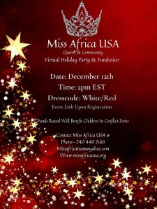 Register for The Inaugural Miss Africa Holiday Party On EventBrite